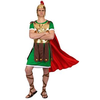 Karnevals- Kostüm Centurio Römer grün/braun/rot