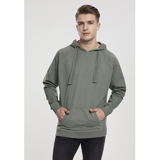 URBAN CLASSICS Hoodie Garment Washed Terry olive