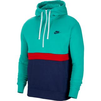 Nike Hoodie Sportswear Club Fleece Grün/Blau