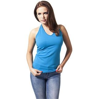 URBAN CLASSICS Shirt Neckholder Damen Türkis