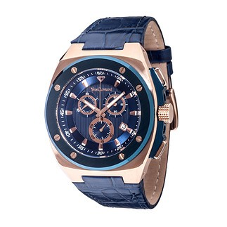 Yves Camani QUENTIN Chronograph Blau/Gold