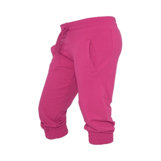 URBAN CLASSICS Capripants French Terry Damen Fuchsia