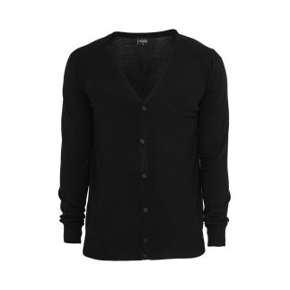 URBAN CLASSICS Cardigan Knitted Schwarz