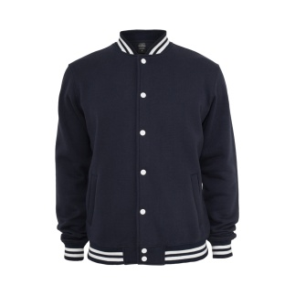 URBAN CLASSICS Collegejacke Sweat Navy