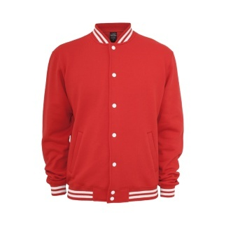 URBAN CLASSICS Collegejacke Sweat Rot