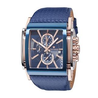 Yves Camani ESCAUT Chronograph Rotgold/Blau