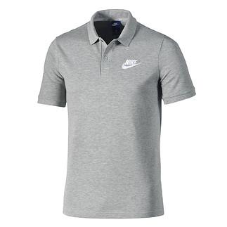 Nike Poloshirt Sportswear Basic dunkelgrau/weiß