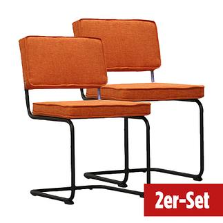 BREAZZ Stuhl Rib Industrial 2er Set orange