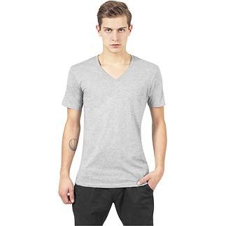 URBAN CLASSICS T-Shirt V-Neck Pocket Grau