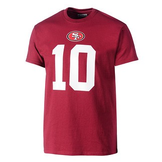 Majestic Athletic San Francisco 49ers T-Shirt Garoppolo Nr 10 rot