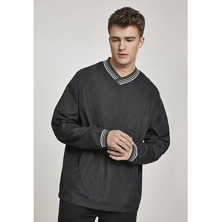 URBAN CLASSICS Pullover Warm Up schwarz/grau