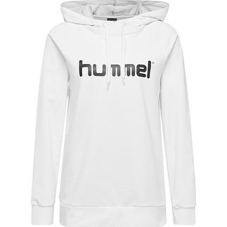 hummel Hoodie Cotton Logo Damen weiß
