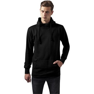 URBAN CLASSICS Hoodie Loose Terry Long schwarz
