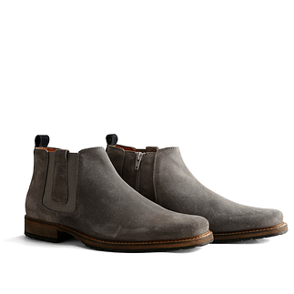 TRAVELIN OUTDOOR Boot London Chelsea Suede hellgrau
