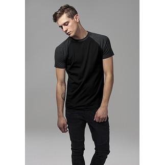 URBAN CLASSICS T-Shirt Raglan Contrast schwarz/dunkelgrau
