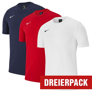 Nike T-Shirt Club Set 1 3er Pack rot/dunkelblau/weiß