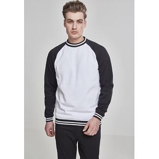 URBAN CLASSICS Sweatshirt Contrast College weiß/schwarz