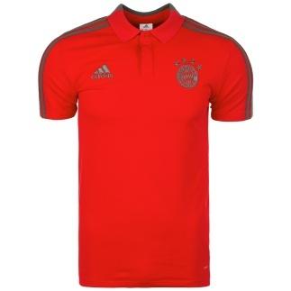 Adidas FC Bayern München 3S Polo Shirt Rot