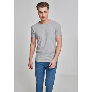 URBAN CLASSICS T-Shirt Fitted Stretch Hellgrau