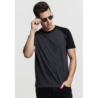 URBAN CLASSICS T-Shirt Raglan Contrast Dunkelgrau/Schwarz