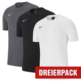 Nike T-Shirt Club Set 2 3er Pack grau/schwarz/weiß