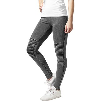 URBAN CLASSICS Leggings Denim Jersey Damen Dunkelgrau
