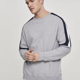 URBAN CLASSICS Sweatshirt Terry Panel grau/navy/weiß