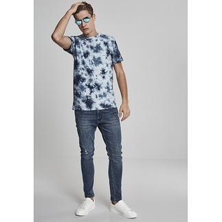 URBAN CLASSICS T-Shirt Batik hellblau/dunkelblau