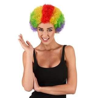 Karnevals- Perücke Clown Perücke bunt