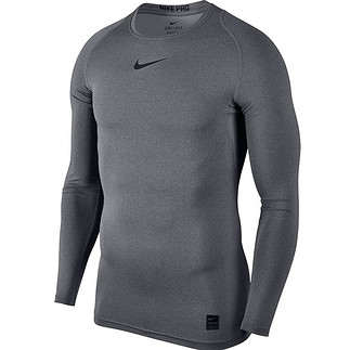Nike Pro Langarmshirt Top Compression Crew Grau