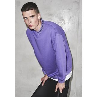 URBAN CLASSICS Sweatshirt Oversize Logo ultraviolett