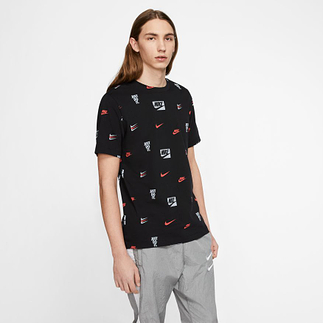 Nike T-Shirt PRINT 3 Styles Schwarz