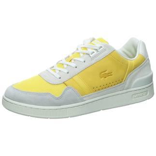 LACOSTE Sneaker T-Clip weiß/gelb