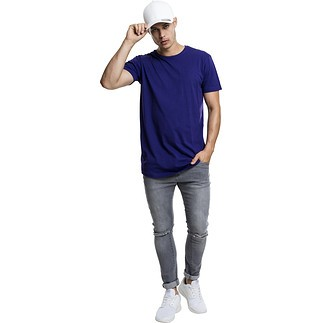 URBAN CLASSICS T-Shirt Shaped Long lila