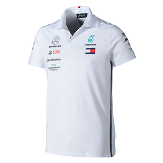 Mercedes AMG Petronas Team Poloshirt 2019 weiß
