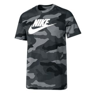 Nike T-Shirt Camouflage Grau
