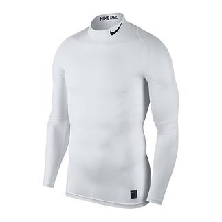 Nike Pro Langarmshirt Top Compression Mock Weiß