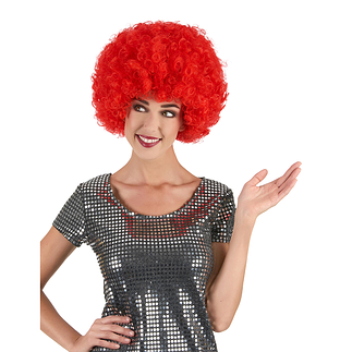 Karnevals- Perücke Afro rot