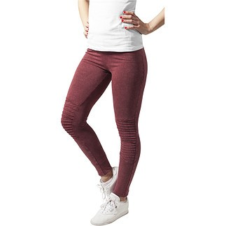 URBAN CLASSICS Leggings Denim Jersey Damen Burgunder