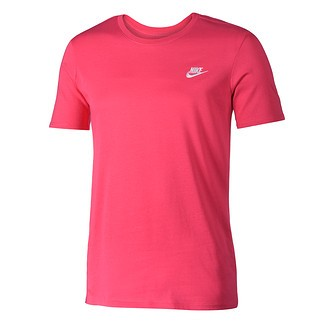 Nike T-Shirt Club Futura Rosa/Weiß