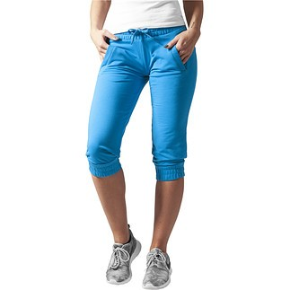 URBAN CLASSICS Capripants French Terry Damen Türkis