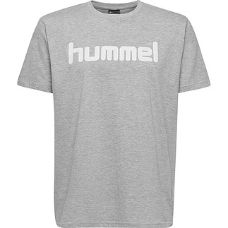 hummel T-Shirt Cotton Logo grau