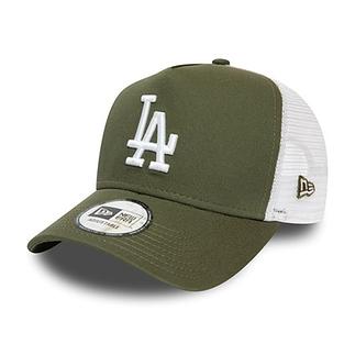 New Era Los Angeles Dodgers Cap Essential Trucker oliv/weiß