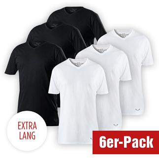 Cotton Butcher 6er Set T-Shirt Mix V-Neck 3+3 Schwarz/Weiß