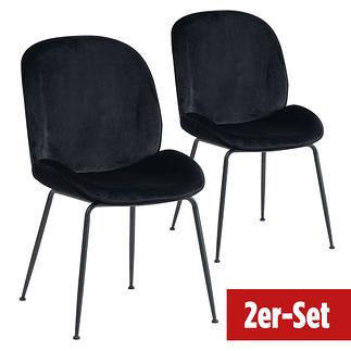 BREAZZ Stuhl Ladybug Velvet 2er Set schwarz