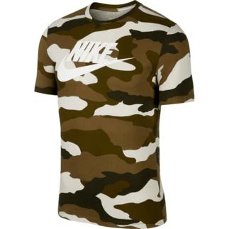 Nike T-Shirt Camouflage Braun