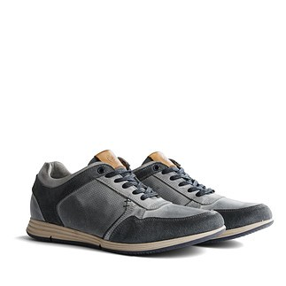 TRAVELIN OUTDOOR Sneaker Corton Leather hellgrau