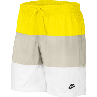 Nike Freizeit- und Badeshorts 3S Gelb/Grau/Weiß