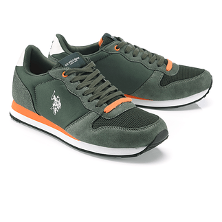 U.S. POLO ASSN. Sneaker Soren grün/orange