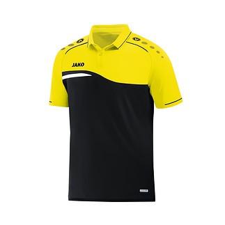 Jako Poloshirt Competition 2.0 schwarz/neongelb